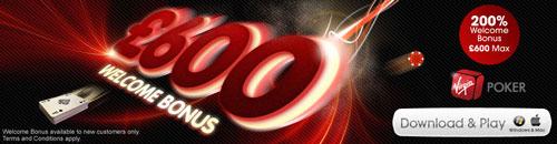 Grab the Virgin Poker Welcome Bonus Today
